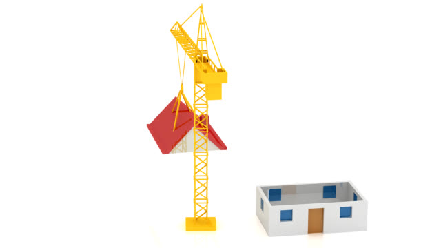 crane 3d - crane stock videos & royalty-free footage