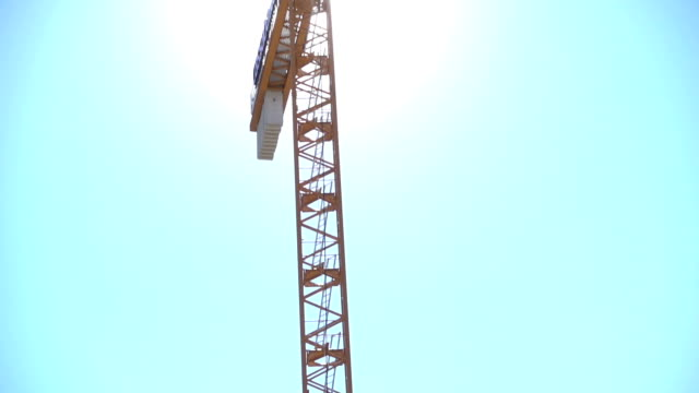 crane - construction site - tilt up stock videos & royalty-free footage