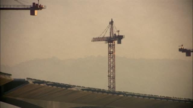 Crane rotating on San Francisco-Oakland Bay Bridge / San Francisco