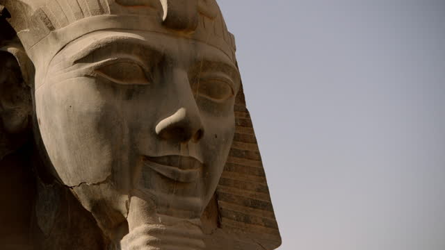 cu crane round head of ramses ii in sculpture - carving craft product stock videos & royalty-free footage