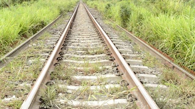 stockvideo's en b-roll-footage met crane shot : rail way - crane shot