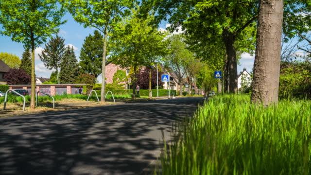 crane: suburb in germany - crane shot stock videos & royalty-free footage