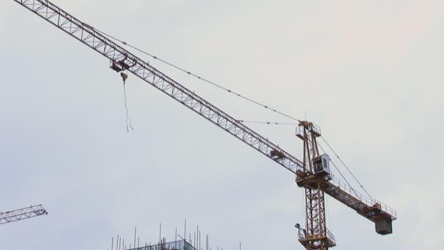LA MS Crane turning at construction site/ Shenzhen, China