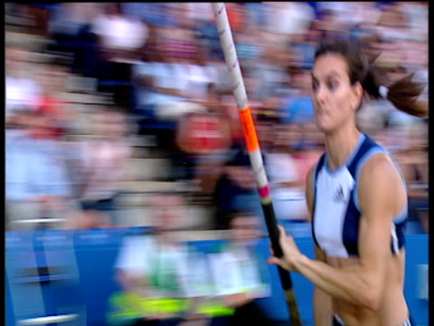 Crane up as Yelena Isinbayeva clears 480m to set new Stadium Record Women's Pole Vault 2004 Crystal Palace Athletics Grand Prix London