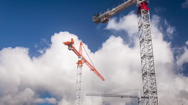 Cranes At Work.