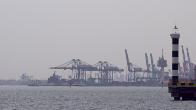 cranes on tianjin harbor, one the biggest port in northern china. - biggest stock videos & royalty-free footage