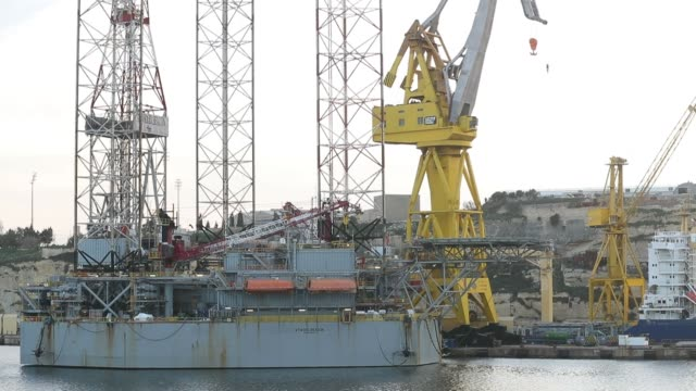 Cranes stand in the Palumbo Malta Shipyards Ltd in Cospicua Malta on Wednesday Feb 1 2017