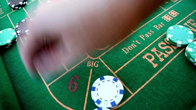 craps gambling big 6 8 video - craps stock videos & royalty-free footage