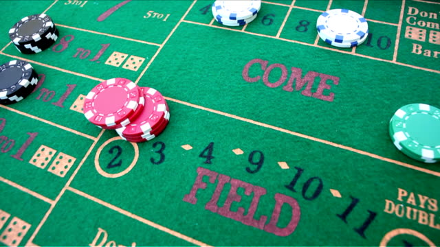 craps gambling field bet video - craps stock videos & royalty-free footage