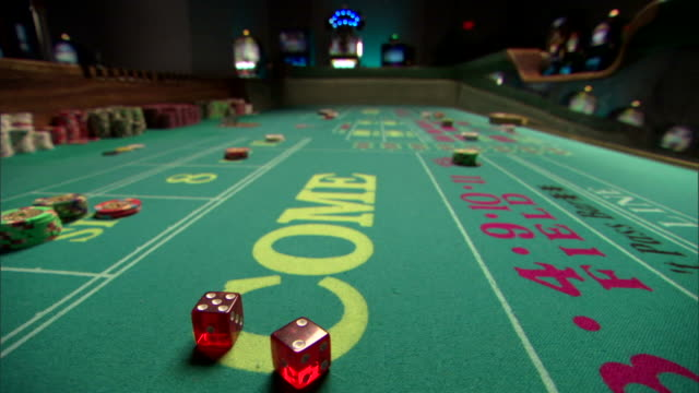 craps table in casino - craps stock videos & royalty-free footage