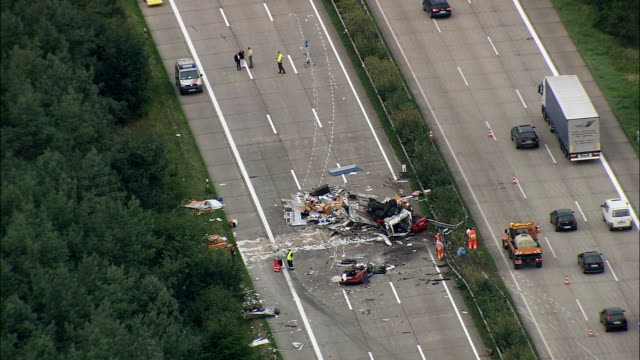 Crash Site On E North Of Hanover  - Aerial View - Lower Saxony,  Germany