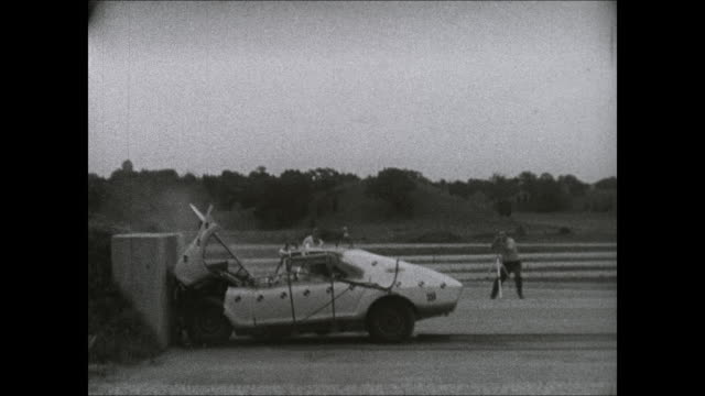 1969 amc amx crash test footage - 2 passengers - crash test stock videos & royalty-free footage
