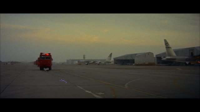 ws crash truck down runway - emergency services vehicle stock videos and b-roll footage