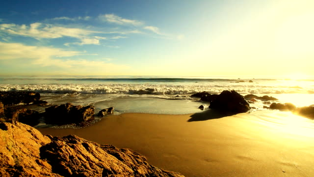 crashing waves before sunset 2 - malibu stock videos and b-roll footage