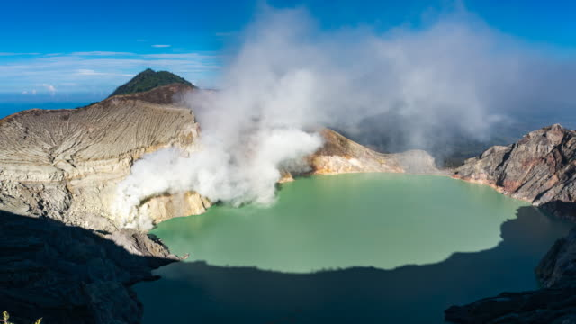 Crater ijen volcano, East Java, Indonesia
