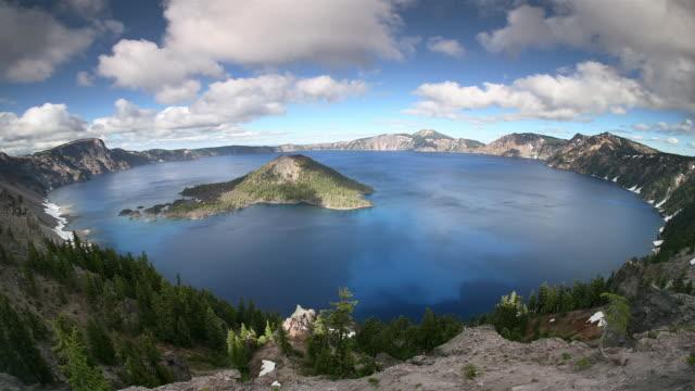 t/l, ws, ha, crater lake, crater lake national park, oregon, usa - crater lake oregon stock videos & royalty-free footage