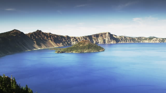 crater lake medium day time lapse - crater lake oregon stock videos & royalty-free footage