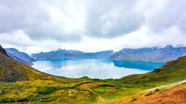 Crater lake of Baekdu Mountain on the border of North Korea and China