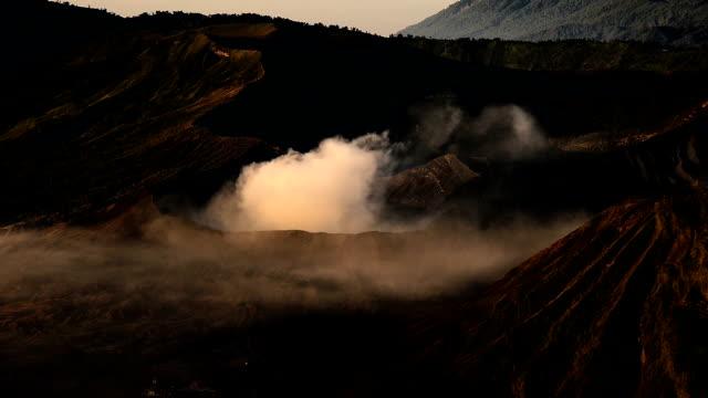 ms crater of bromo volcano in bromo tengger semeru national park, east java, indonesia - bromo tengger semeru national park stock videos & royalty-free footage