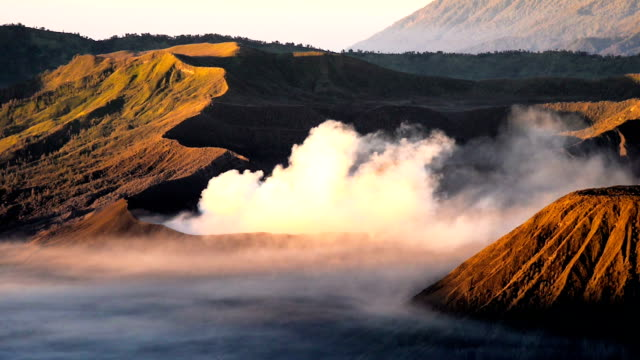 ms crater of bromo volcano in bromo tengger semeru national park, east java, indonesia - tengger stock videos & royalty-free footage
