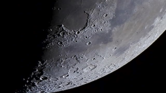 craters on the moon - moon stock videos & royalty-free footage
