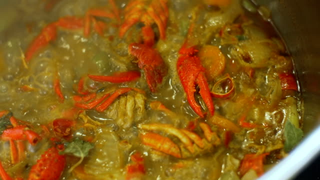 crawfish boiling - boiled stock videos and b-roll footage