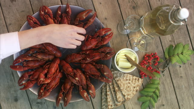 A crayfish party, Sweden.
