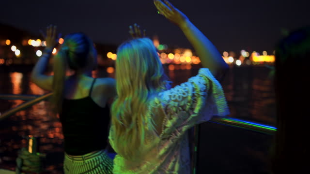 crazy bachelorette party on a boat - ladies' night stock videos and b-roll footage