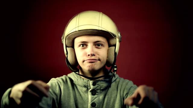 crazy biker - helmet motorcycle stock videos and b-roll footage