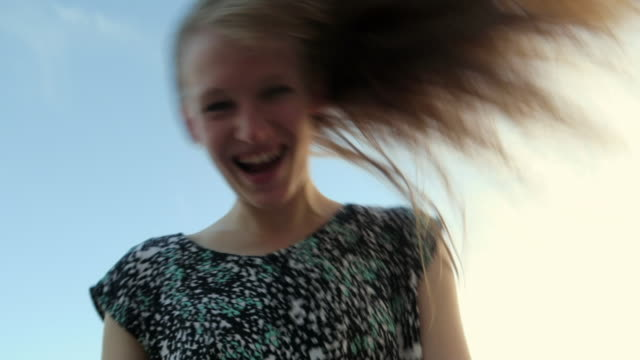 crazy girlfriend bouncing in front of the camera - insanity stock videos & royalty-free footage