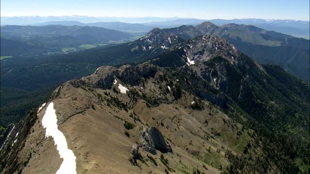 Louco Montanhas Vista aérea-Montana, Condado de Gallatin, Estados Unidos