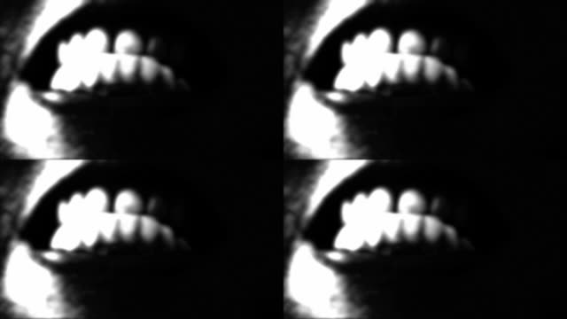 crazy teeth - spooky stock videos & royalty-free footage