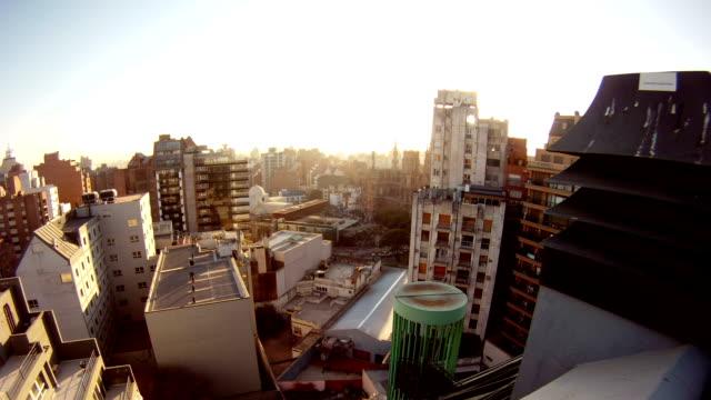 アルゼンチンコルドバ amanecer タイムラプス-太陽の - ベランダ点の映像素材/bロール