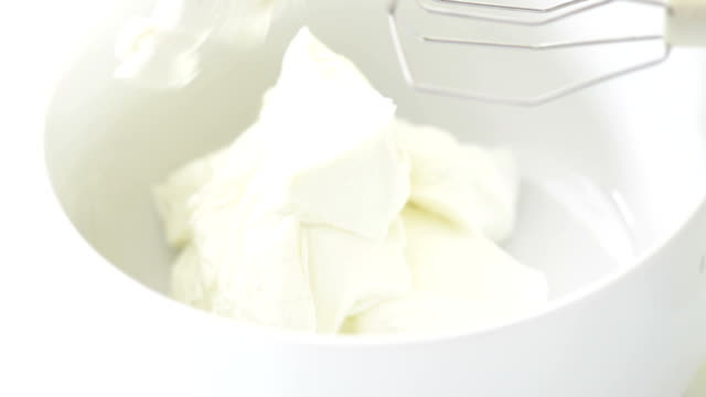 cream in bowl - sour cream stock videos & royalty-free footage