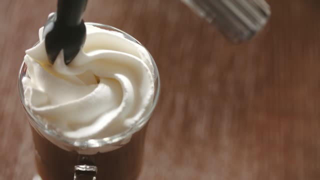 cream on top - whipped cream stock videos & royalty-free footage