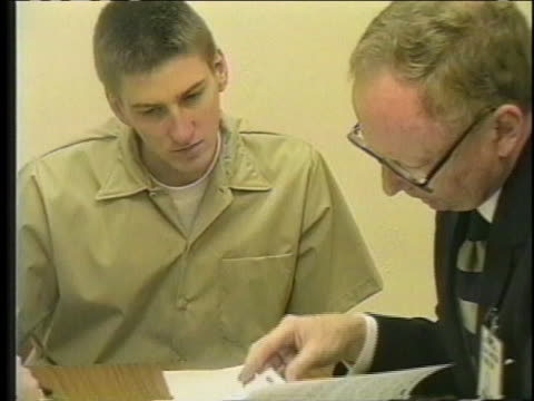 camera angle description: shot type description: borrowed time: oklahoma city bomber timothy mcveigh considers options of appeal to delay his... - timothy mcveigh stock videos & royalty-free footage