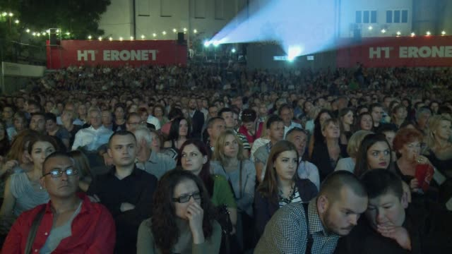 created as an act of resistance to the siege of the city during the 19921995 bosnian war the sarajevo film festival openend on friday to celebrate... - film festival stock videos & royalty-free footage