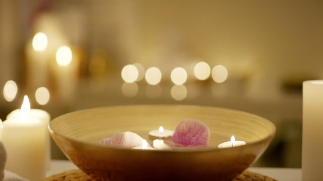 creating tranquility - spa stock videos & royalty-free footage