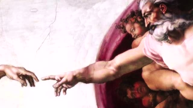 creation of adam michelangelo fresco - god stock videos & royalty-free footage