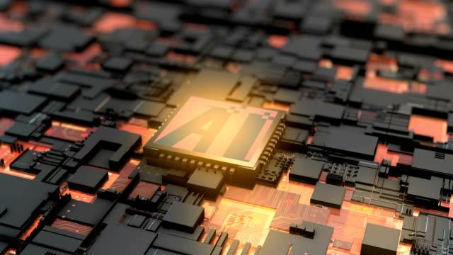 電子チップのクリエイティブアニメーション - 中央演算処理装置点の映像素材/bロール