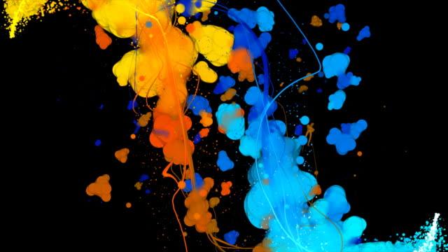 Kreative Hintergründe: Tintenblauen Fire & Ice