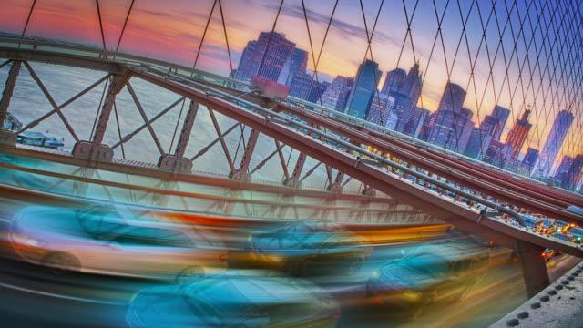 Creatieve Brooklyn bridge en het centrum van New York
