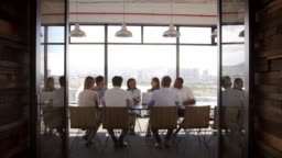 Creative business team at a meeting in a boardroom