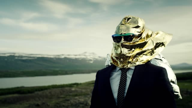 creative businessman concept. gold head full of ideas - males stock videos & royalty-free footage