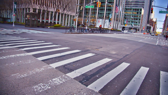 creative empty sixth avenue. midtown new york. street. - crossing stock videos & royalty-free footage