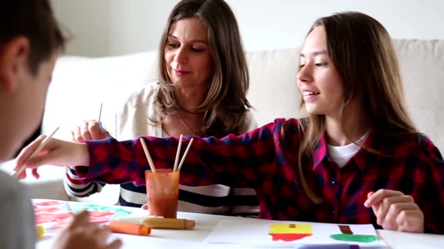 creative family - pre adolescent child stock videos and b-roll footage