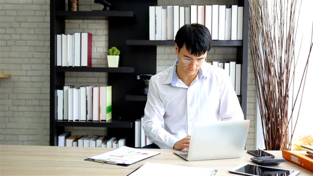 Creative man working in  home office