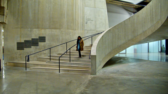 creative stairs to tate modern gallery. - indoors stock videos & royalty-free footage