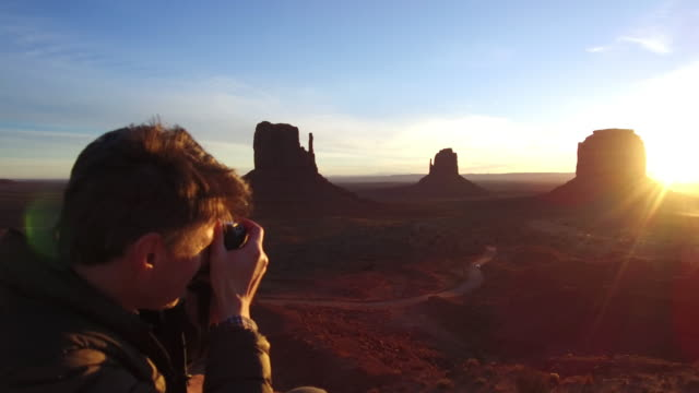 creative sunrise - monument valley stock videos & royalty-free footage