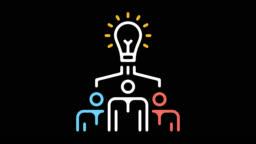 Creative Team Line Icon Animation with Alpha